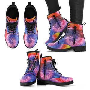 TieDye Dragonfly Vegan Leather Women Boots