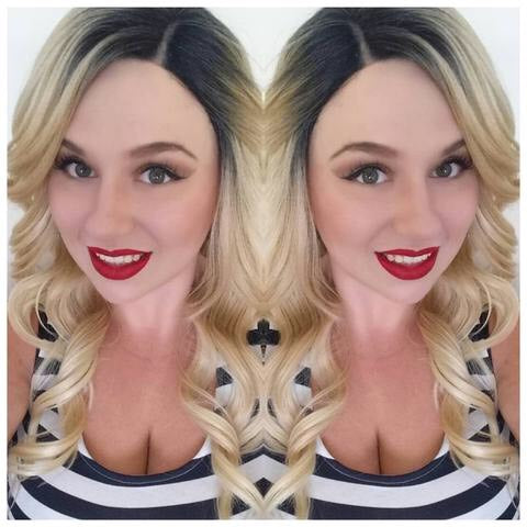 Synthetic Lace Front Wig Blonde