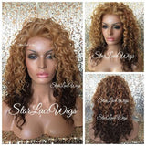 Wavy Ombre Synthetic Lace Front Wig Layers