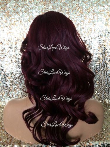 Dark Red Synthetic Wig