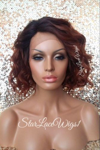 Lace Front Wigs Human Hair Blend Curly