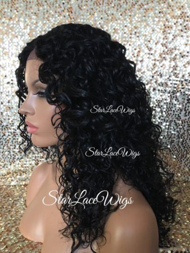 Long Deep Wave Synthetic Lace Front Wig