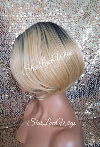 Straight Bob Blonde Wigs For Women
