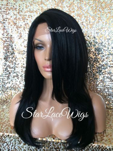 Long Straight Layered Lace Front Wig For Women
