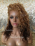 Wavy Strawberry Blonde Ombre Lace Wig