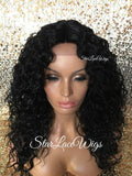 Curly Black Synthetic Lace Wig