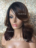 Brown Burgundy Auburn Lace Front Wig