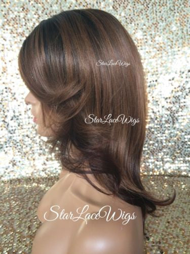 Auburn Burgundy Synthetic Lace Front Wig
