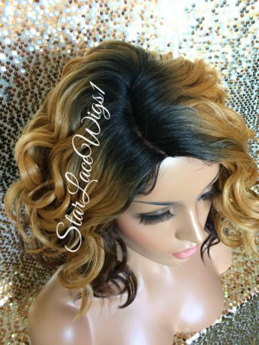 Short Wavy Ombre Wig For Sale