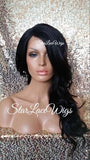 Brown Wavy Lace Wig With Bangs