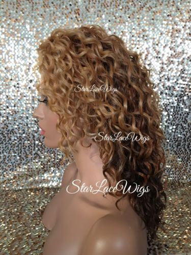 Wavy Strawberry Blonde Ombre Lace Front Wig