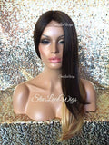 Ombre Brown Auburn Blonde Lace Front Wig