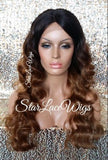 Curly Human Hair Blend Lace Front Wig