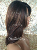 Brown Burgundy Synthetic Lace Front Wig