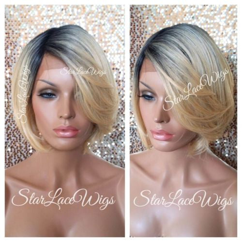 Human Hair Blend Lace Front Wigs For White Women