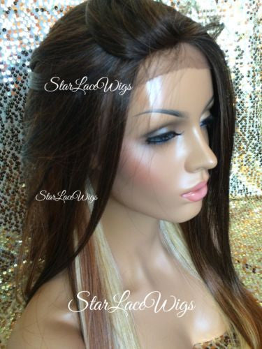 Long Straight Lace Wig Middle Part