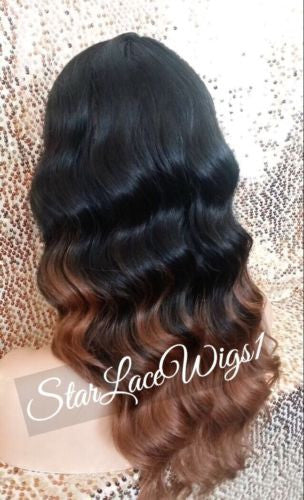 Synthetic Ombre Lace Front Wig