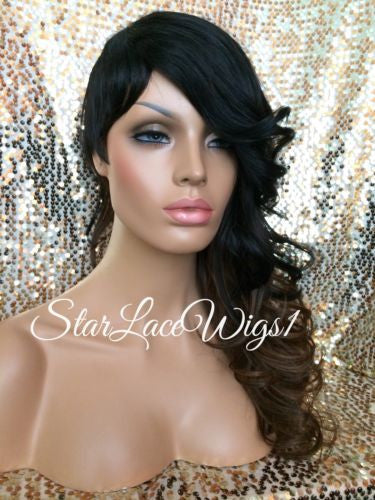 Curly Shaved Side Synthetic Wig