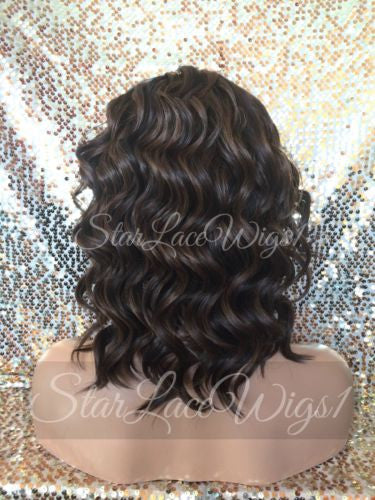 Short Brown Wavy Synthetic Wig