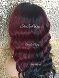 Burgundy Synthetic Lace Front Wig