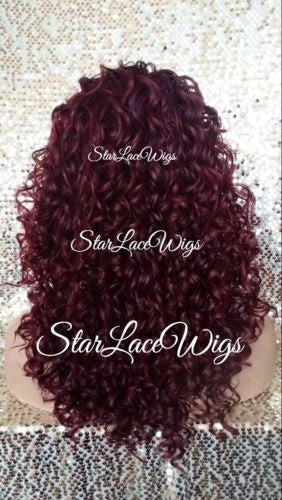 Red Human Hair Blend Wigs For Sale