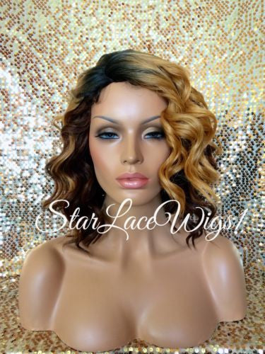 Ombre Curly Synthetic Wig