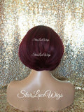 Straight Burgundy Wigs For Women