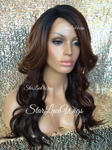 Dark Root Color #27 Lace Front Wig