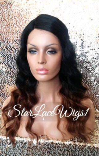 Ombre Body Wave Synthetic Lace Front Wig