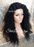 Long Black Curly Synthetic Lace Front Wig