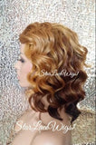 Short Wavy Strawberry Blonde Ombre Wig