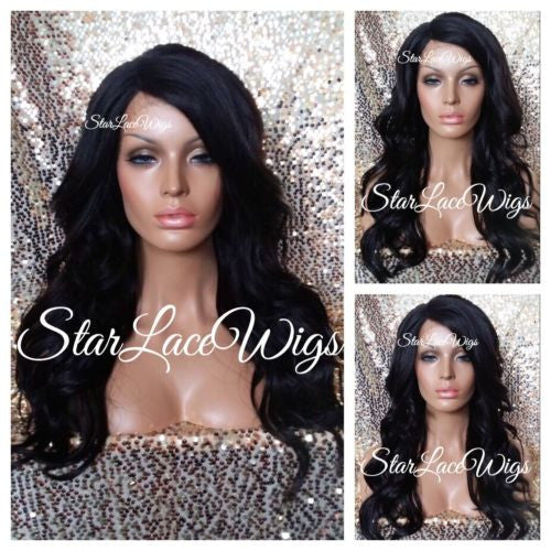 Long Brown Wavy Synthetic Lace Front Wig
