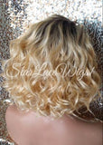Blonde Curly Lace Front Wigs