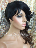 Synthetic Wig Shaved Side With Bangs