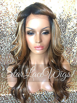 Long Wavy Synthetic Lace Front Wig Highlights