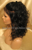 Short Wavy Human Hair Custom Full Lace Wig