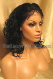 Short Wavy Human Hair Custom Full Lace Wigs For Black Women