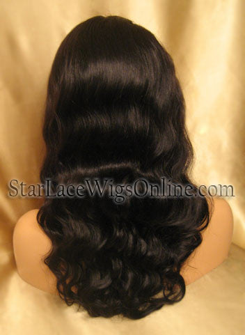 Custom Body Wave Human Hair Full Lace Wigs For Black Women