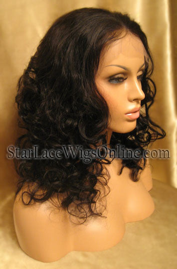 Long Curly Human Hair Custom Full Lace Wig