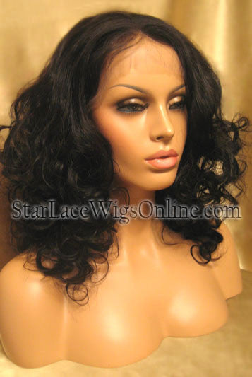 Custom Human Hair Lace Front Wig With Baby Hair