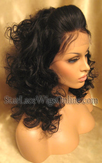 Custom Human Hair Lace Front Wigs For Black Women