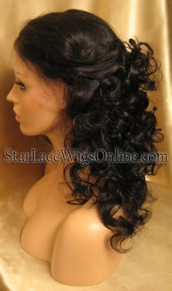 Long Human Hair Full Lace Wigs For Women in DC