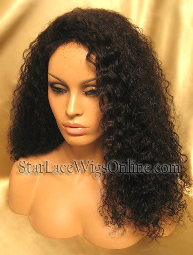 Curly Human Hair Lace Front Wig DC