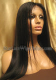 Yaki Straight Indian Remy Lace Front Wig