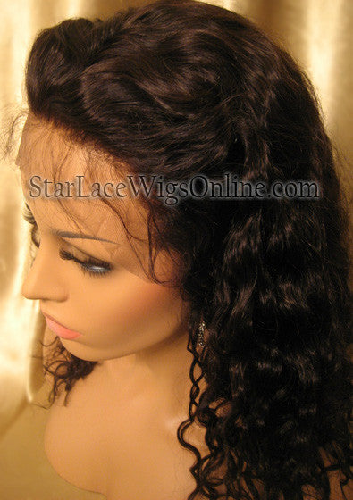 Human Hair Curly Custom Full Lace Wigs For Sale