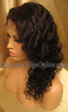 Curly Indian Remy Full Lace Wigs For Black Women