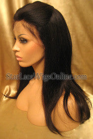 Long Straight Chinese Virgin Hair Custom Full Lace Wigs For Women
