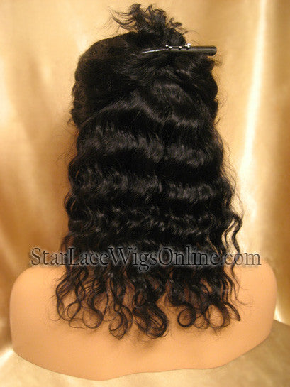 Short Wavy Human Hair Full Lace Wigs For Black Women