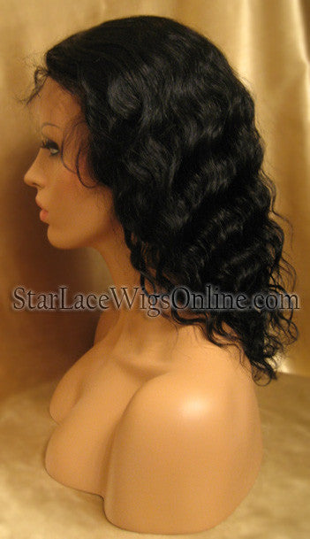 Short Wavy Human Hair Full Lace Wigs For White Women
