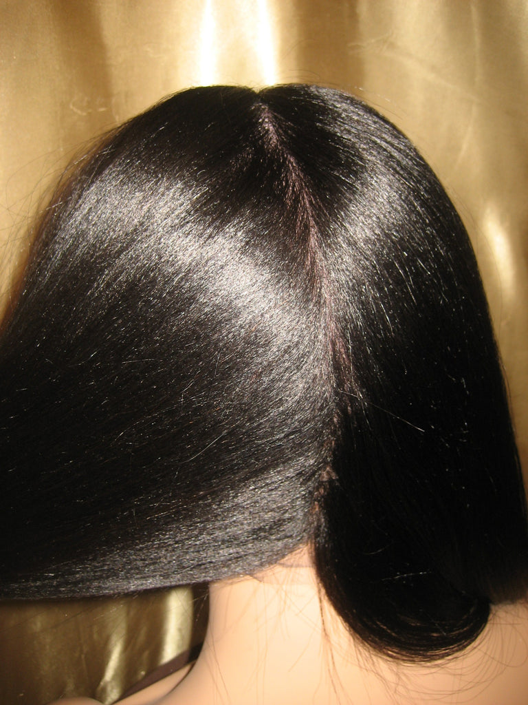 Long Yaki Straight Human Hair Full Lace Wigs Near DC